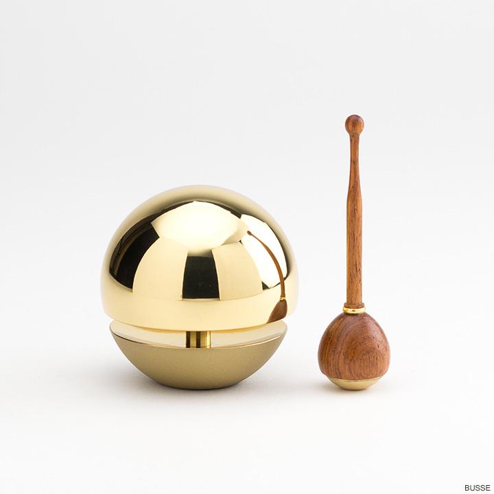 画像1: たまゆらりん クリヤー 1.8寸 リン棒付  (おりん 仏具 おしゃれ ミニ モダン) (1)